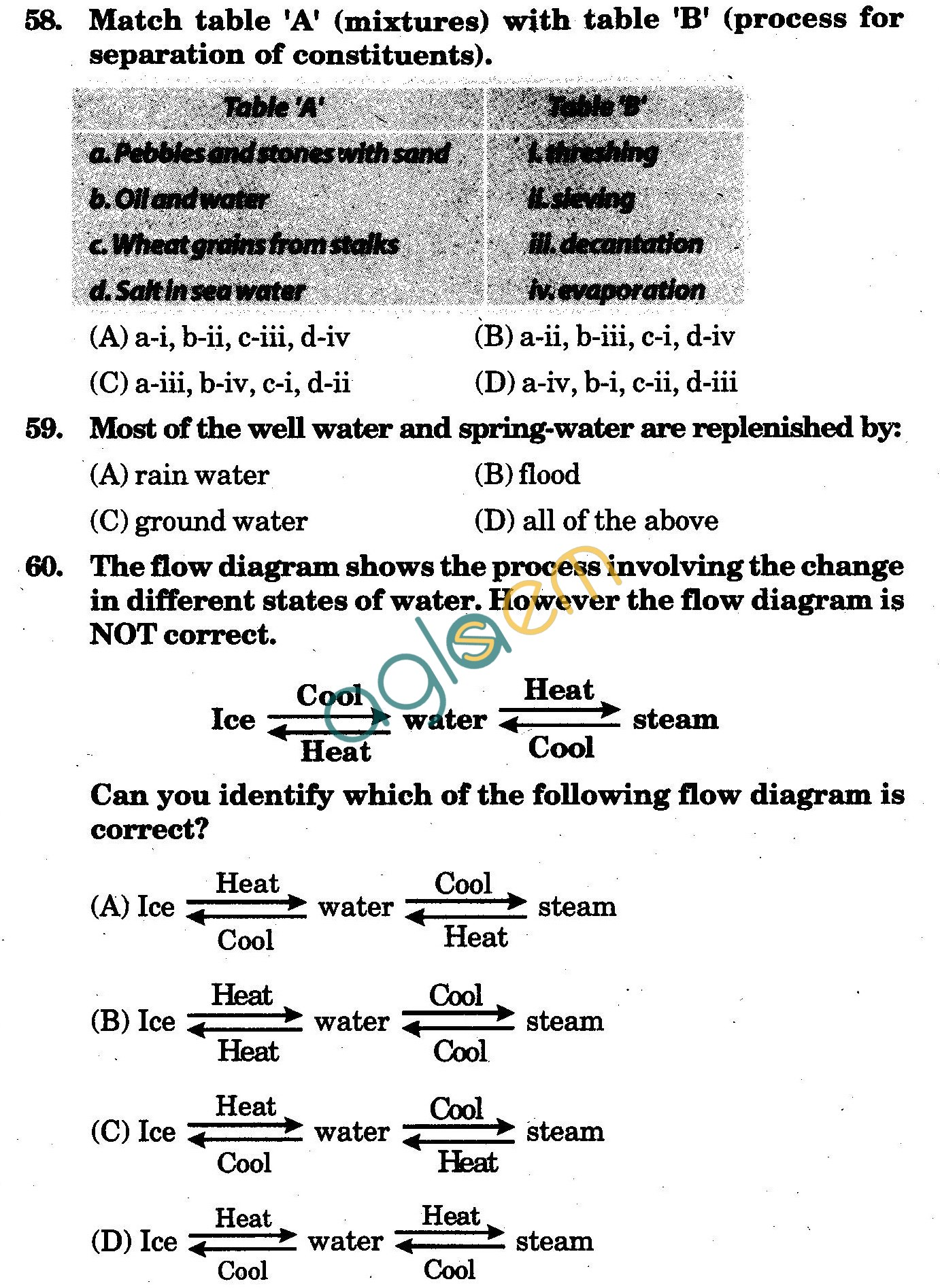 NSTSE 2009 Solved Question Paper for Class VI