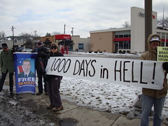 Toledo. 1000 days in prison without trial. Free Bradley Manning.