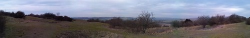 Cissbury ring panorama by www.sussex-mtb.com