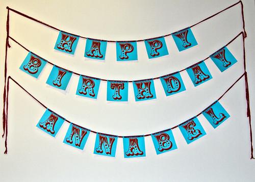 Circus birthday banner