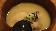 Small Plate: Oysters and Jerusalem Artichoke in broth