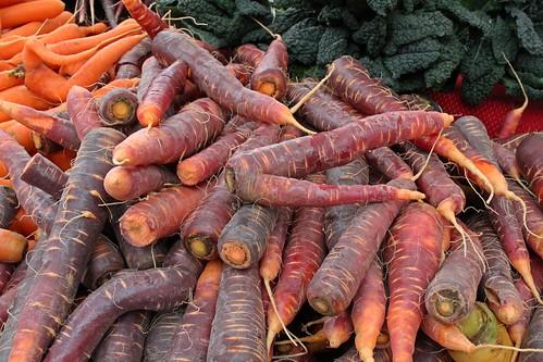Carrots at Portland Farmers Market