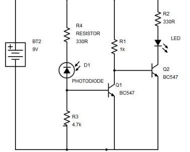 Dark sensor using transistor, photodiode and phototransistor