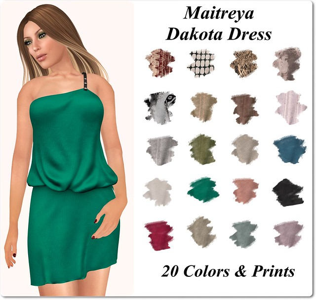 Maitreya ~ Dakota Dress Colors Prints