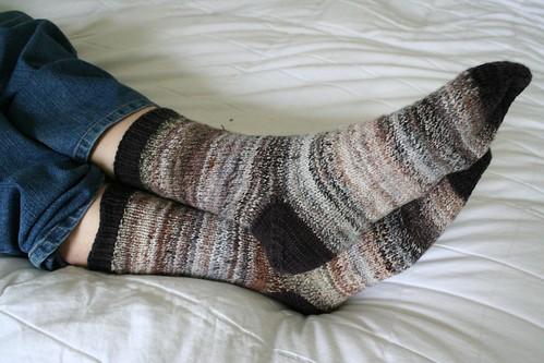 knitted :: handspun Dad Socks