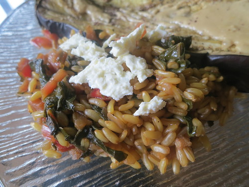 Kamut, rainbow chard and feta salad