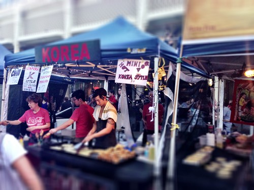 Korean stall at Twilight Markets - yummy seafood pancakes