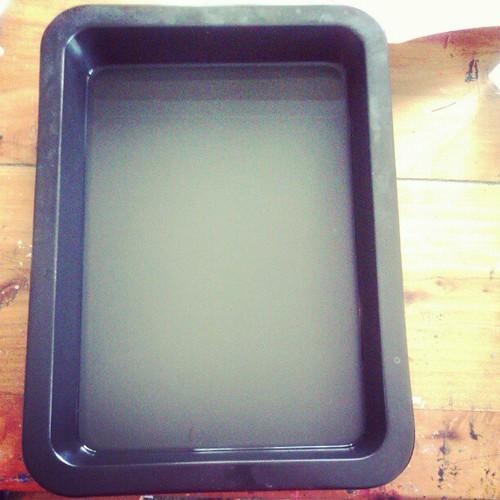 Gelatin plate under way. #sofreakingexcited #printinghappeningheresoon