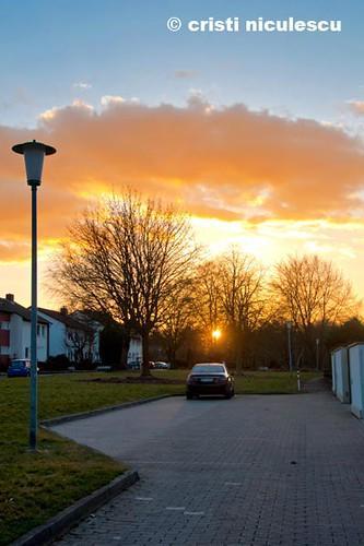 Flaming Sky by cristiniculescu