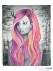 dream hair. acrylic canvas