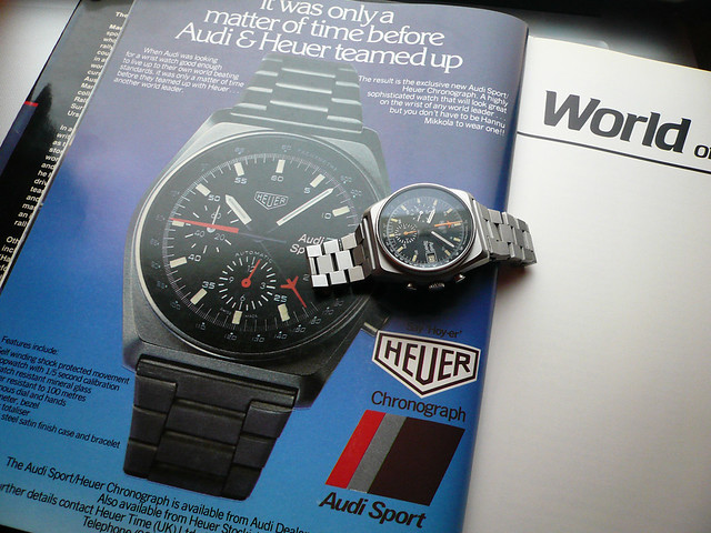 Heuer Audi Sport and Advert