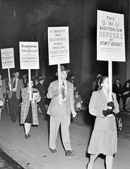 Desegregate Lisner Auditorium Pickets: 1946 # 1
