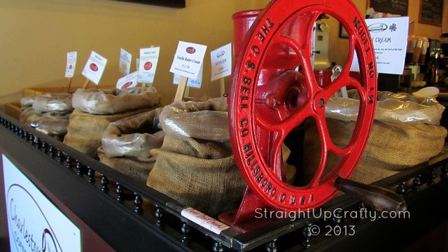 Charleston Coffee Exchange Beans and Crank
