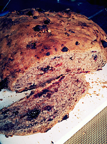 Cranberry Chocolate Nut Bread