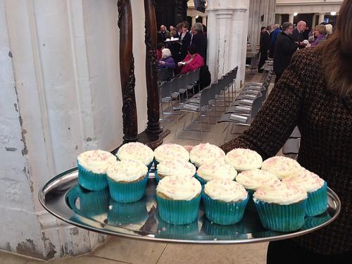Cupcakes at John Charles Chapman's Thanksgiving Service at St. Helen's Bishopsgate