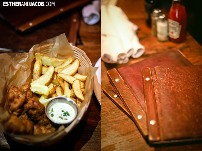 Menus and Fish & Chips at Brickstore Pub Downtown Decatur | Tourists at Home