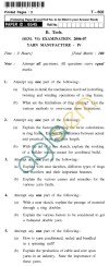 UPTU B.Tech Question Papers - T-602 - Yarn Manufacture-IV