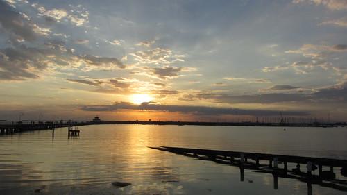 st kilda pier sunset