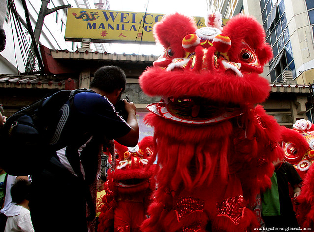 Red Lion Costume in Binondo Chinatown Manila