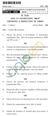 UPTU B.Tech Question Papers - TCF-404 - Chemistry & Production of Fibres