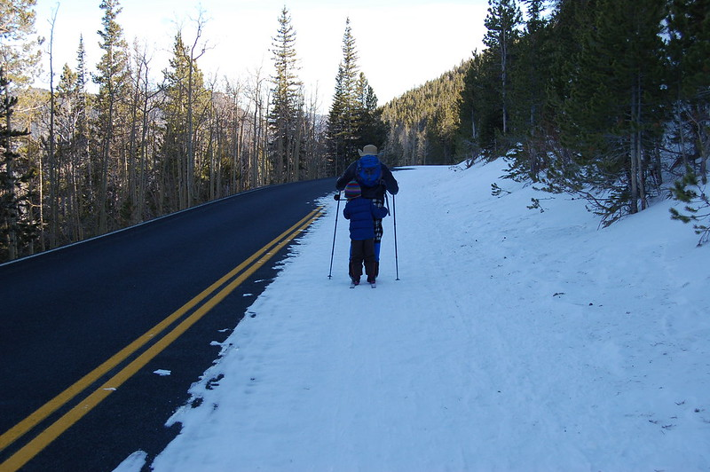 Tandem Skiing