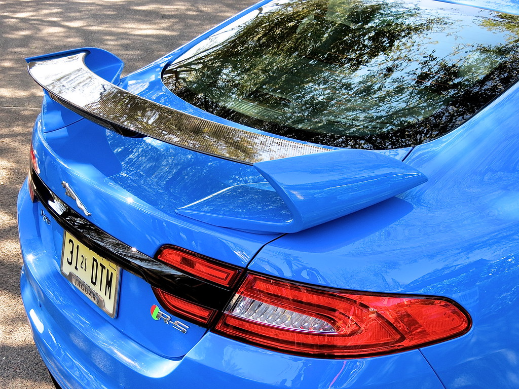 Jaguar XFR-S rear spoiler