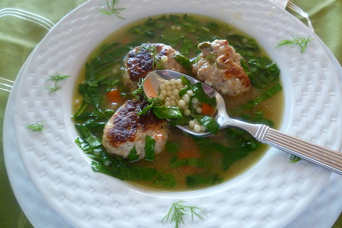 CHICKEN-SAUSAGE MEATBALL SOUP 030