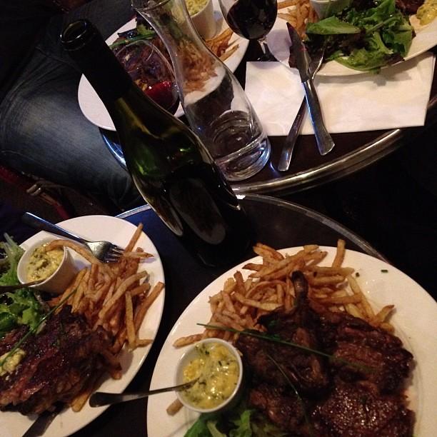Steak Frites in Paris