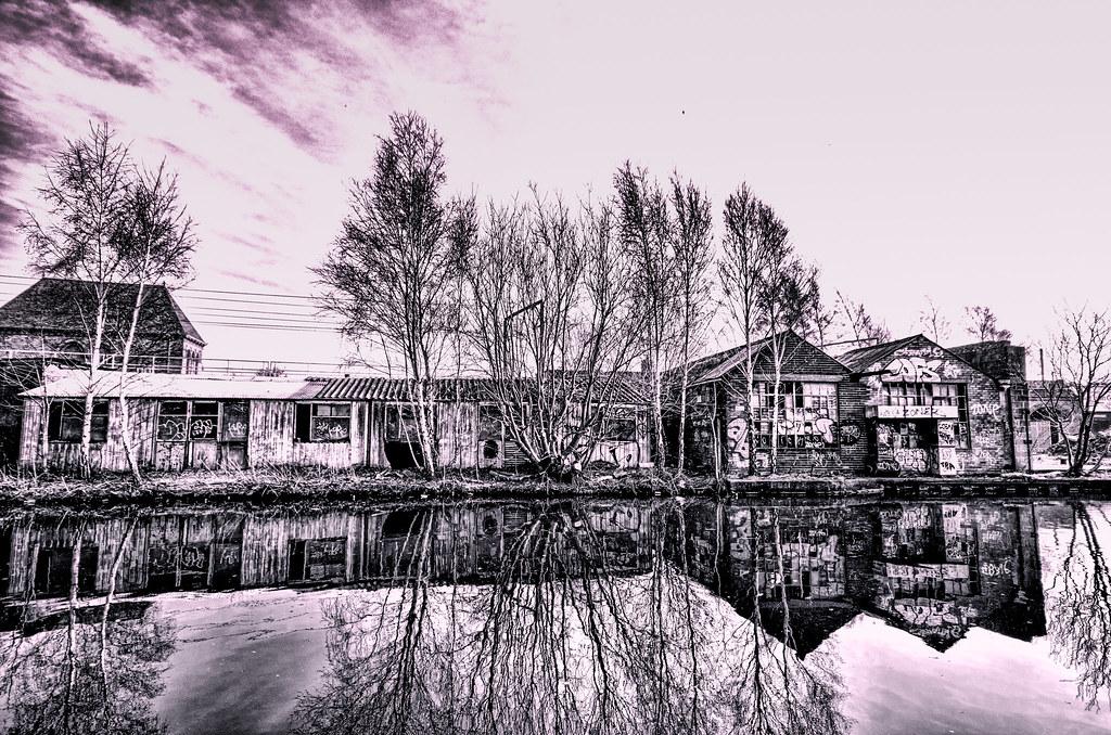 Old Buildings On Waters Edge