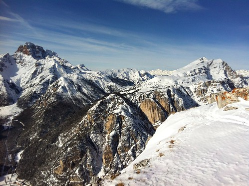 Monte Piano, Gipfelblick auf Hohe Gaisl, Helltaler Schlechten und Dürrenstein