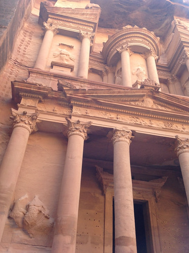 The work of the Nabataeans in Petra, Jordan (February 2013)