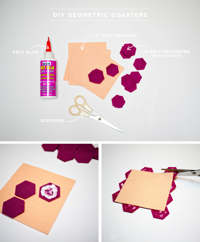 DIY Geometric Coasters via CieraDesign.com