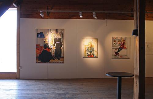 Tre målningar av Kerstin Diedrich på NP33.