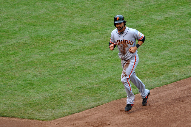 Angel Pagan vs. the Cubs.
