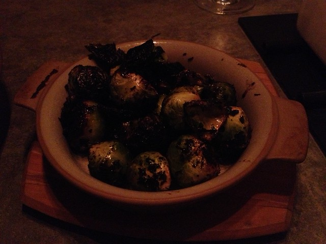 Wood-charred brussels sprouts - Workshop Kitchen + Bar