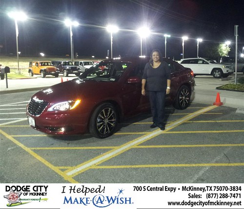 Congratulations to Rhonda Harrison on the 2013 Chrysler 200 by Dodge City McKinney Texas