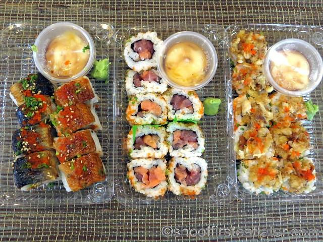 Omakase makimono (jurassic, crazy maki, zigzag roll)