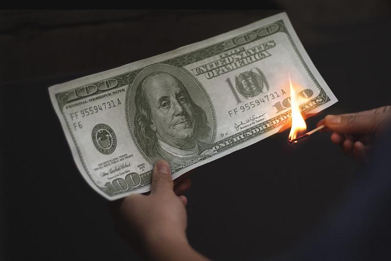 Boston- Benjamin Franklin on fire