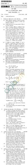 UPTU B.Tech Question Papers - CH-601 - Mass Transfer-II