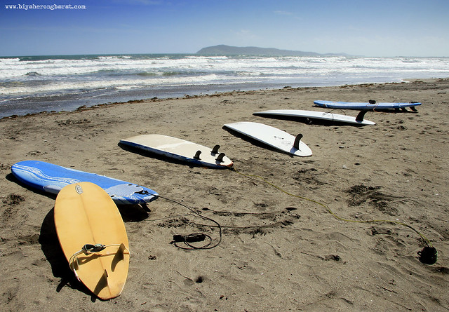 Surfboards in Bagasbas Beach Daet Camarines Norte
