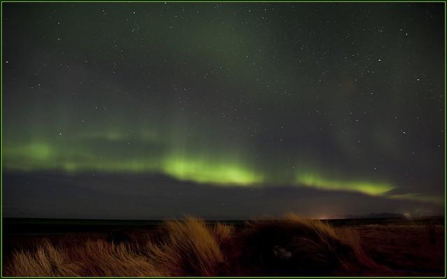 Northern Lights just outside Reykjavik
