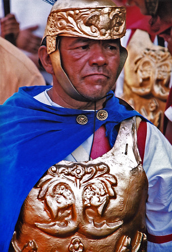a Roman in the processions at Antigua