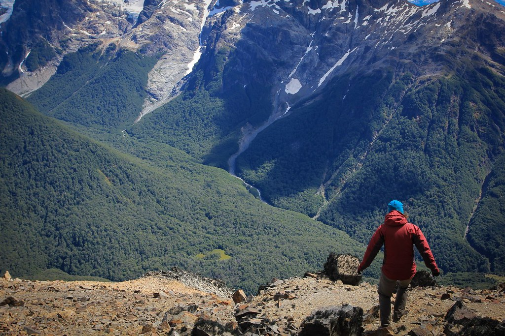 Exploring a wild ridge in the Reserva Nacional Cerro Castillo. Aysen, Chilean Patagonia.