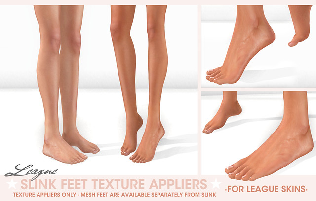 *League* Slink Feet Texture Appliers for League Skins