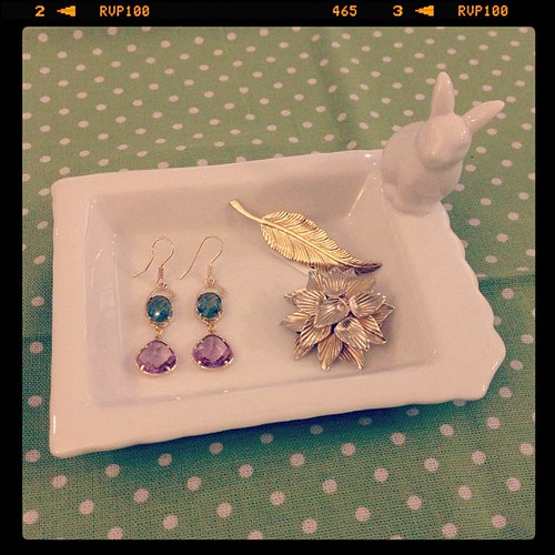 Bunny trinket dish that you can place your 'everyday' jewellery on :)