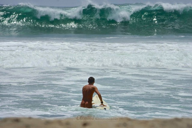 naturist surfer 0017 Zipolite, Oaxaca, Mexico