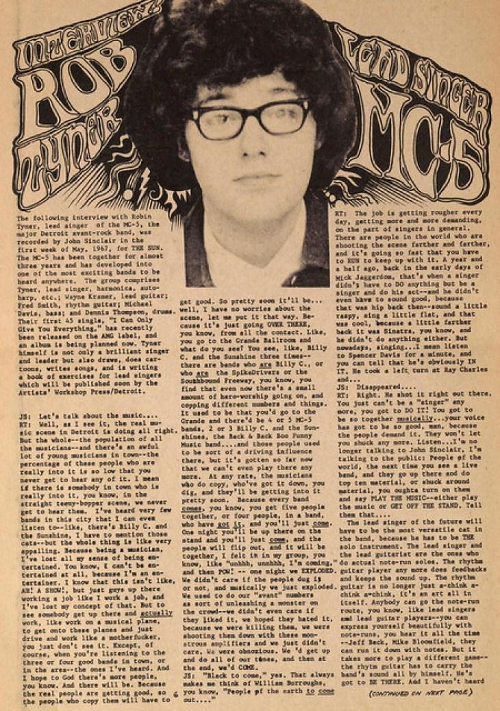 Rob Tyner - MC5 Lead Singer Interview 1967 (1)