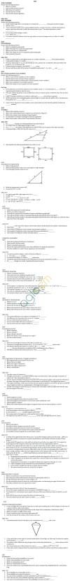 CBSE Class X: Maths - Quiz/Oral Test