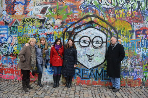 at the Lennon Wall