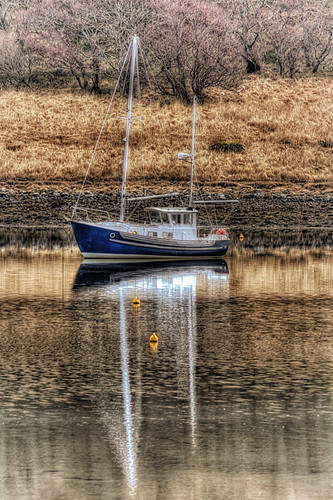 Reflections of a Sail Boat by emperor1959